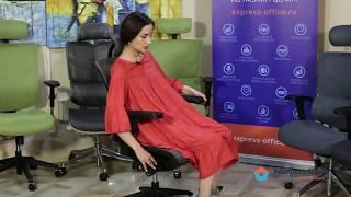 Обзор эргономичного кресла серии Expert Vista из высокопрочной сетки темно-серого цвета