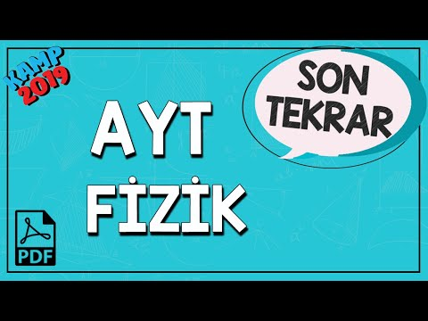AYT Fizik Son Tekrar | Kamp2019