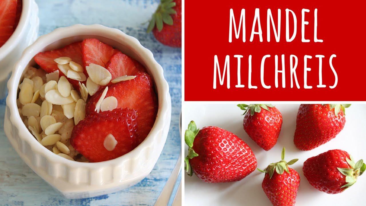Mandelmilchreis mit Erdbeeren & Vanille - Milchreis Rezept - Muttertag
