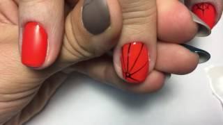 Паутина на ногтях  Идея маникюра для Хеллоуин