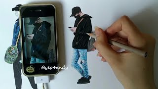 EXO Chanyeol drawing tutorial (easy, 45 minutes drawing)