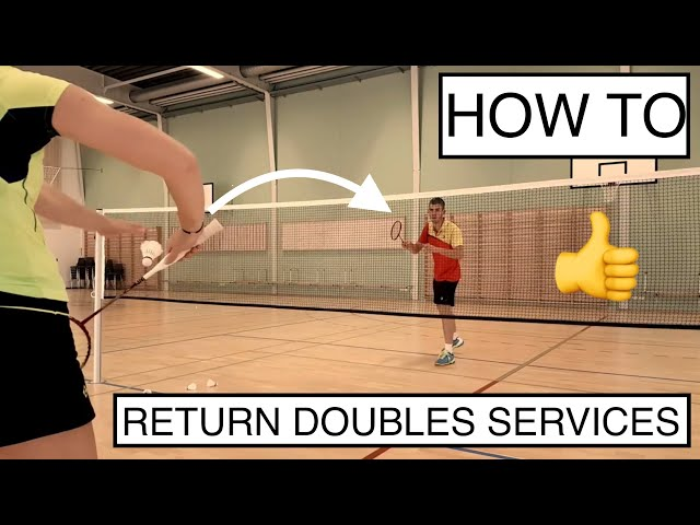 BADMINTON TECHNIQUE #52 - HOW TO RETURN THE LOW SERVE AND FLICK SERVE
