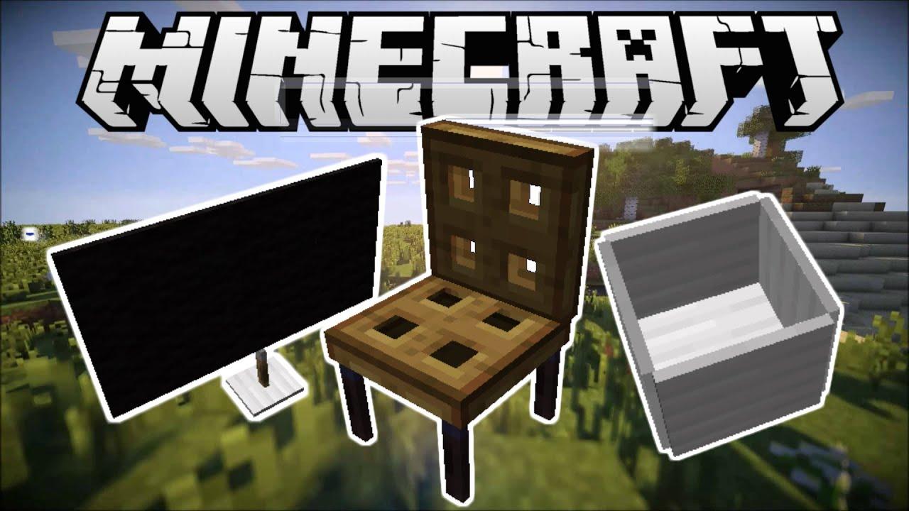 TV, BÀN, GHẾ, ĐÈN BÀN TRONG MINECRAFT (Minecraft 1.9+)