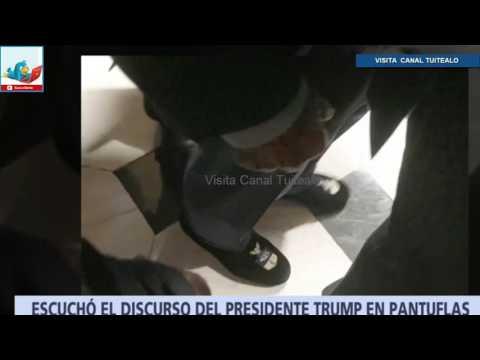 Wilbur Ross asiste con pantuflas a discurso de Donald Trump ante el Congreso de EU Video
