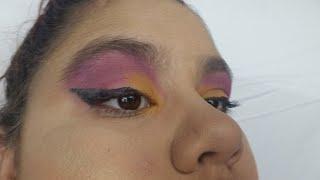 Yellow & Purple Makeup Look