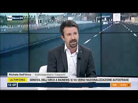 Michele Dell'Orco ospite a RaiNews24 il 29-08-2018