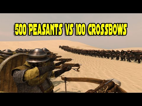 500 Peasants vs 100 Crossbows - Mount & Blade 2: Bannerlord |