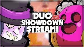 DUO SHOWDOWN LIVE STREAM! + Road To 11k Trophies! + Mini Games + Robo Rumble! - Brawl Stars