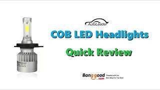 AutoLeader S2 COB LED Headlights Review - Banggood.com