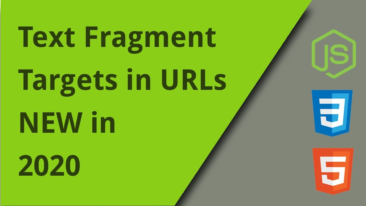 New URL Feature - Targetting Text Fragments