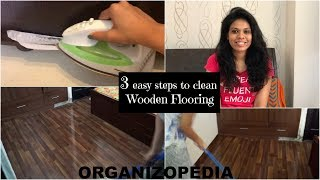3 Easy Steps to clean floors (in hindi with english subtitles) | Wooden Floors |Organizopedia
