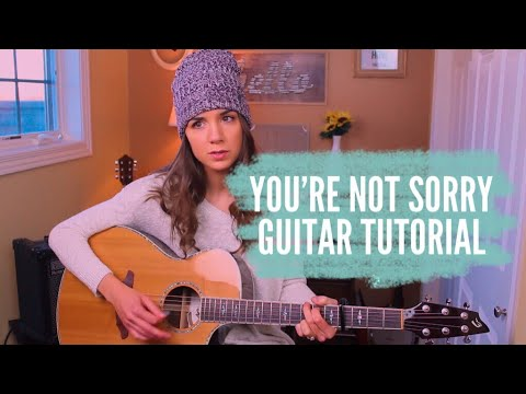 You're Not Sorry -  Taylor Swift | Guitar Tutorial