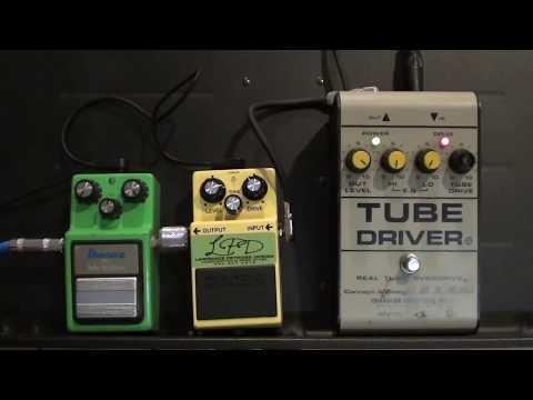 BK Butler Tube Driver vs TS9 Tubescreamer vs SD1 LPD Comparison