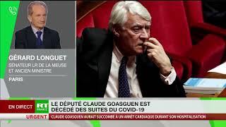 Décès de Claude Goasguen : Gérard Longuet s'exprime
