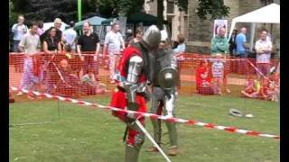 Battle re enactment at Newark castle knights sheriff of Nottingham