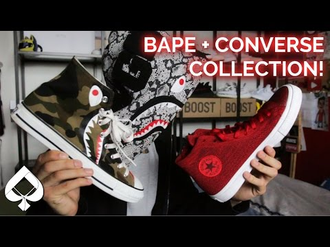 BAPE AND CONVERSE SNEAKER COLLECTION!!