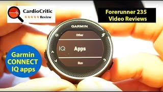 Garmin Forerunner 235 - Connect IQ - widgets, applications, data fields and clock faces