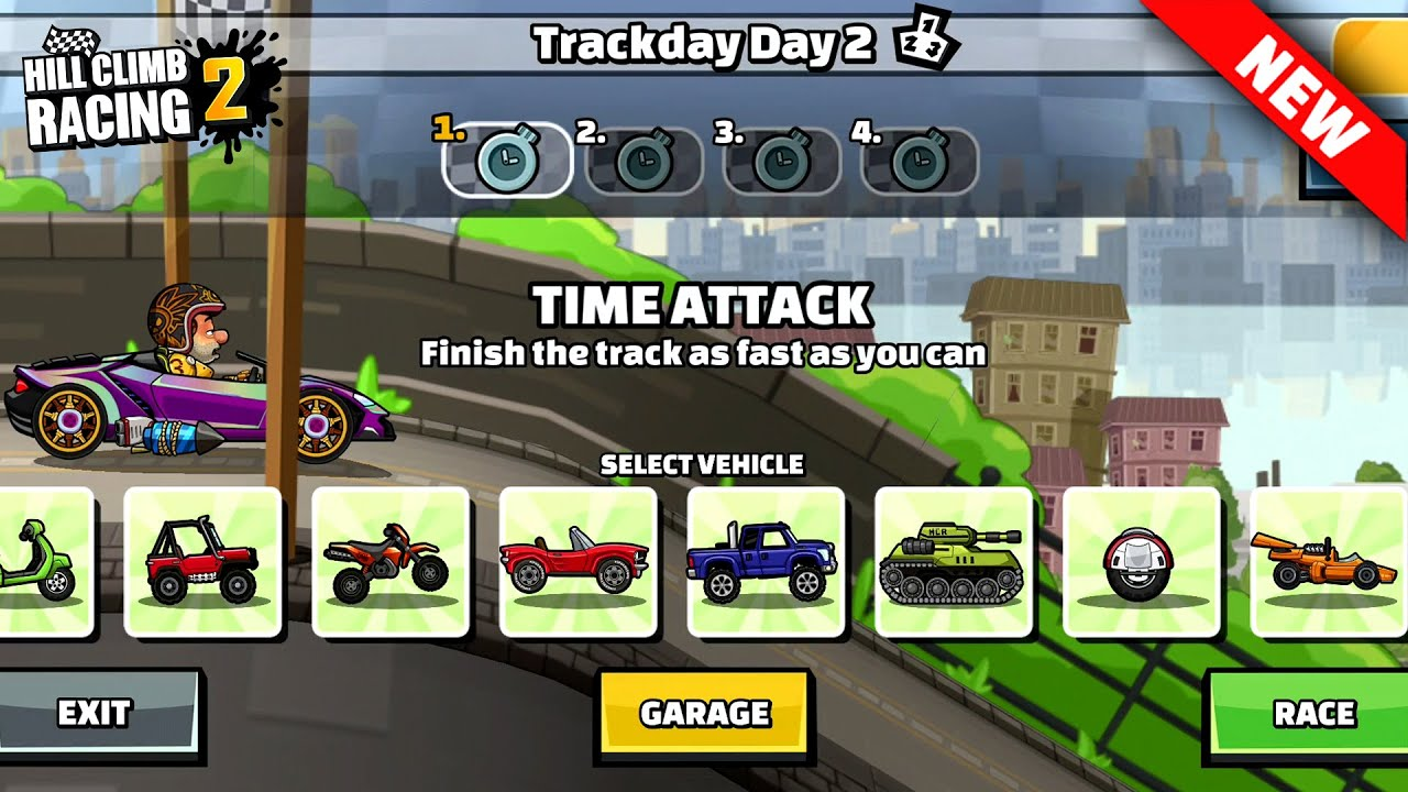 Hill Climb Racing 2 - Trackday day 2 Team Event GamePlay