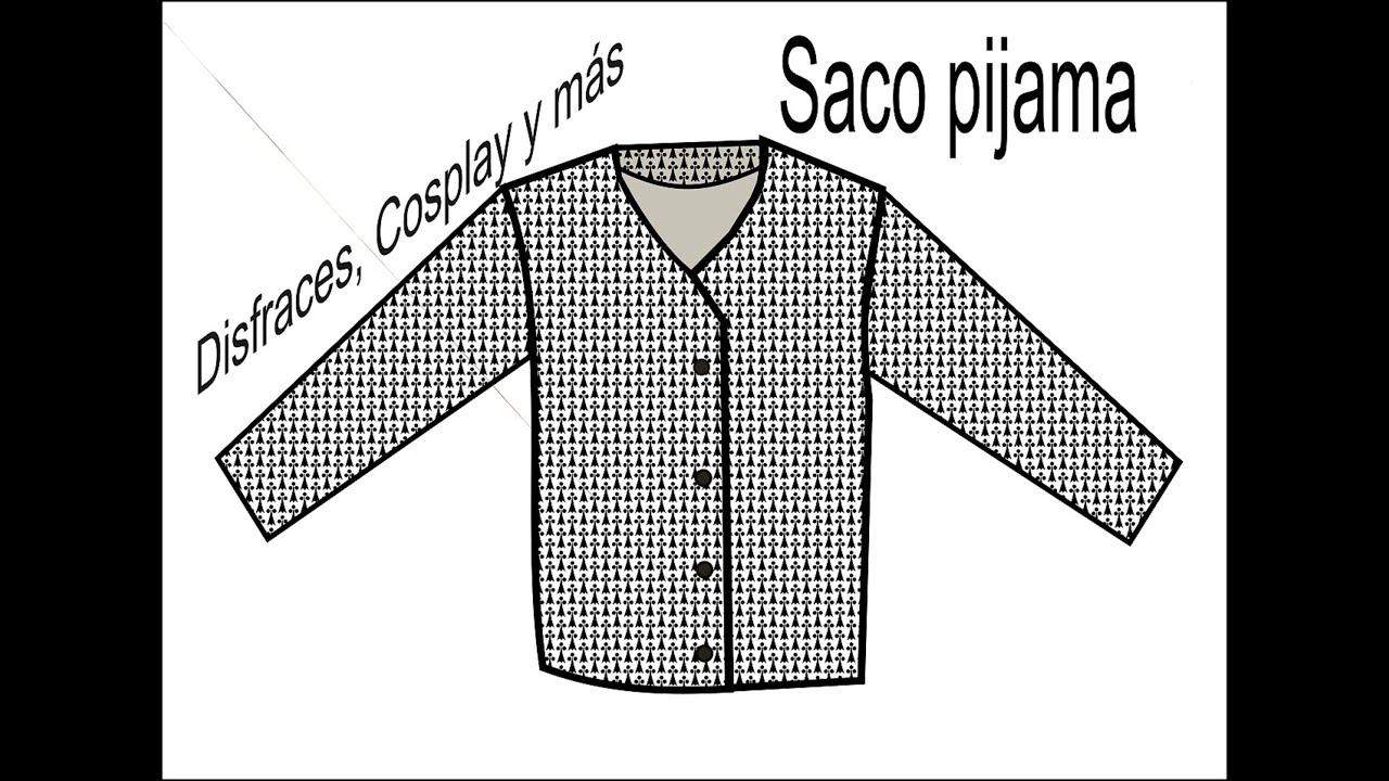 DIY Saco pijama para niño. Proceso + Patrones gratis. - YouTube