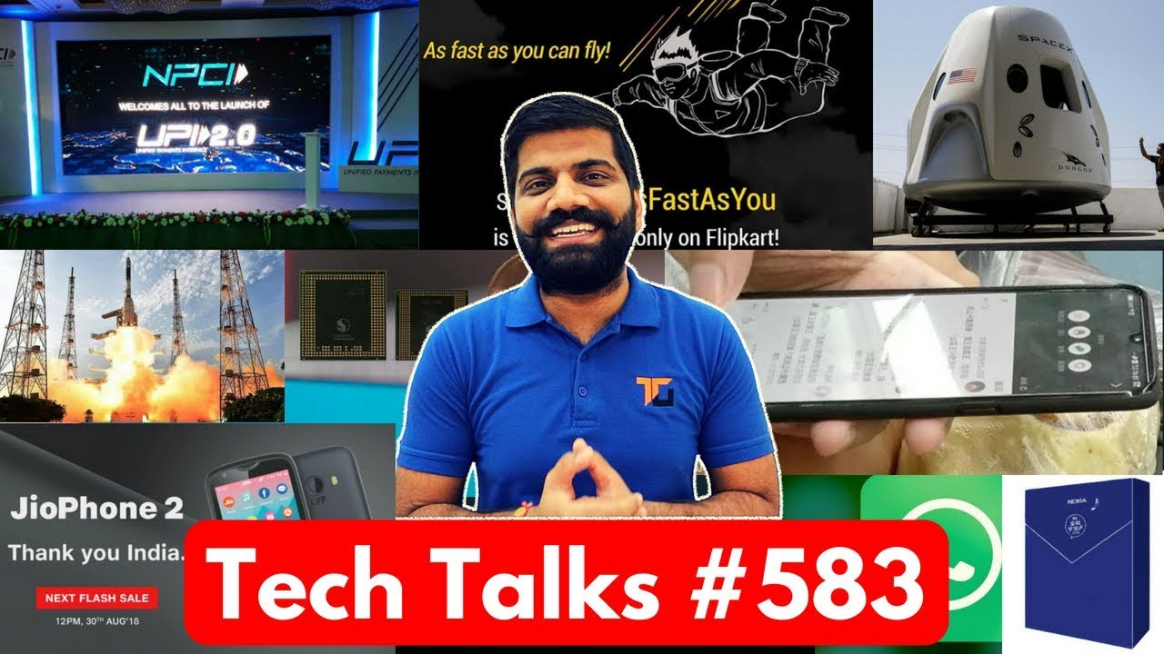 Tech Talks #583 - RealMe 2, UPI 2.0, Nokia Smart Speaker, Vivo X23, JioPhone 2 Sale, Mi A2