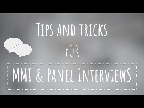 TIPS & TRICKS YOU HAVE TO KNOW For PANEL & MMIs | Journey2Med