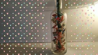 decoration inside wine bottle |bottle art | wine bottle decoration ideas | bottle craft