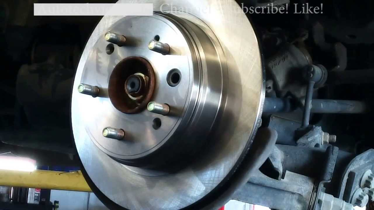 Rear brake pad replacement Honda CRV CR-V 2002-2004 Acura Install Remove Replace - YouTube