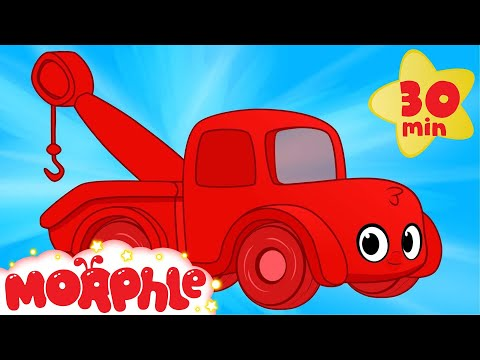 Morphle The Red Tow Truck - My Magic Pet Morphle Vehicle Videos For Kids