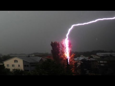 Top 10 Lightning Strikes 2017 - The Amazing power of Nature