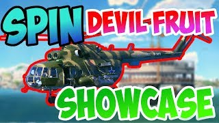 [OPL] HELICOPTER AKA SPIN FRUIT SHOWCASE | ROBLOX ONE PIECE LEGENDARY| ONE PIECE GAME | AXIORE