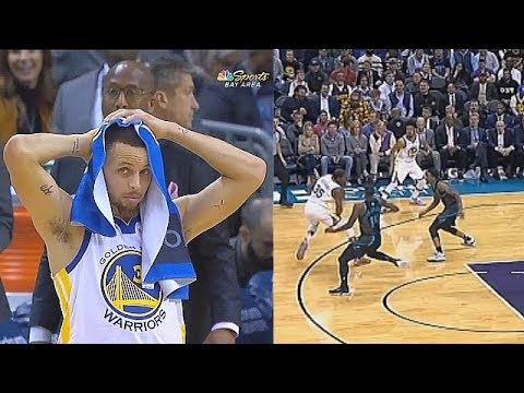 Stephen Curry In Disbelief Of Kevin Durant's Crazy Step-Back! Warriors vs Hornets