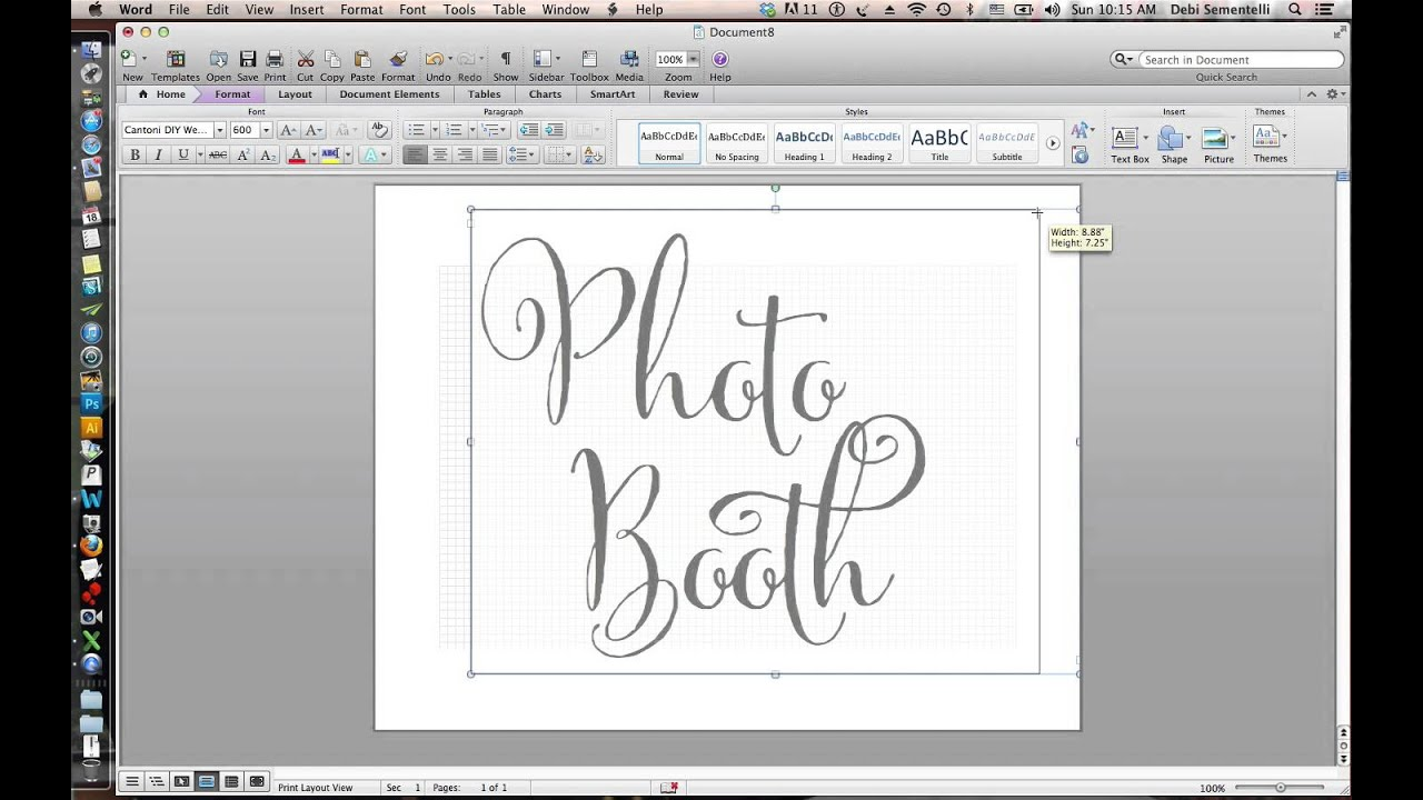 How To Make Diy Wedding Signs Using Cantoni Font