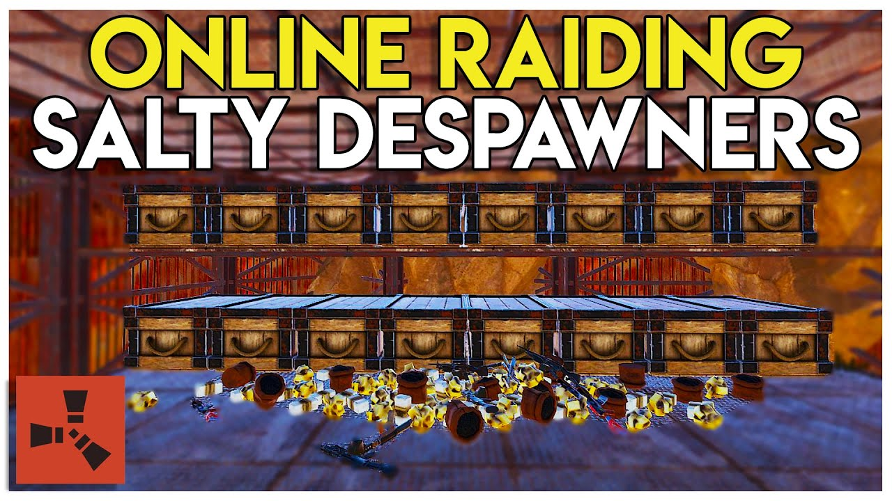 5852f303c4a SALTY GROUP DESPAWNS LOOT DURING ONLINE RAID! - Rust - YouTube