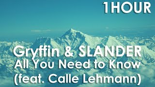[1Hour Loop] Gryffin &amp SLANDER - All You Need to Know (feat. Calle Lehmann)