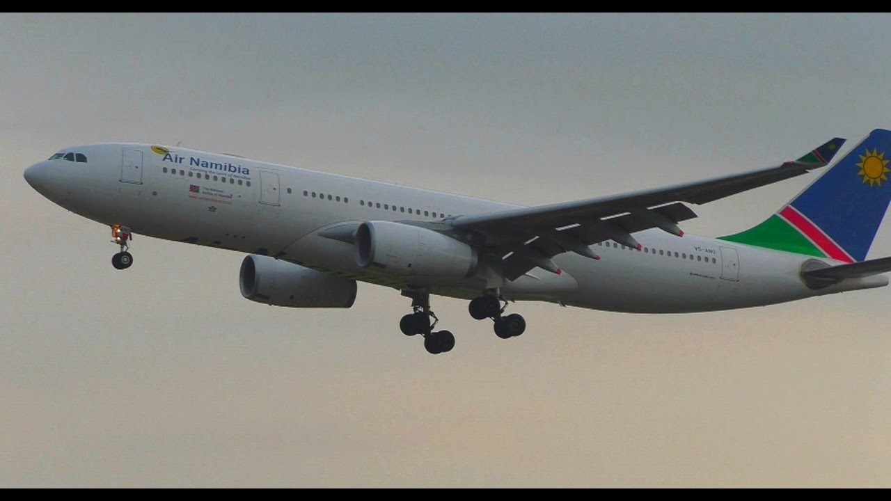 air namibia airbus a330 200 v5 ano landing and close up. Black Bedroom Furniture Sets. Home Design Ideas
