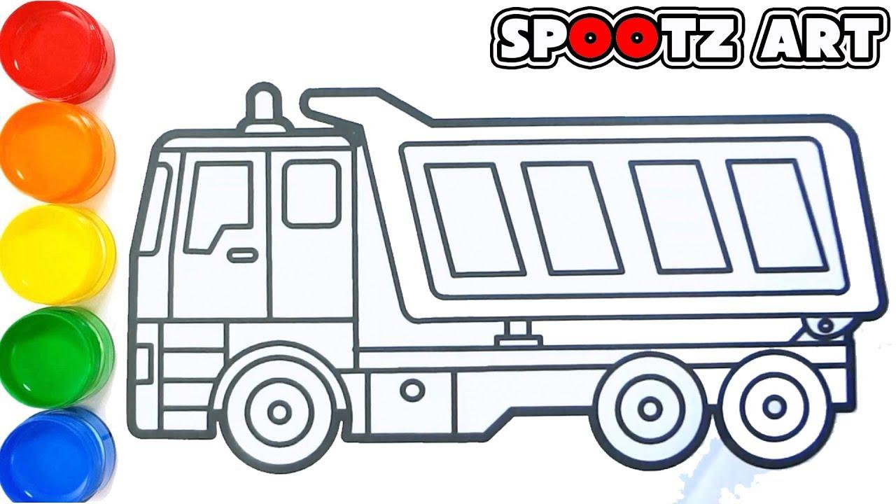 Cara Menggambar dan Mewarnai truk Fuso | Mewarani Gambar ...