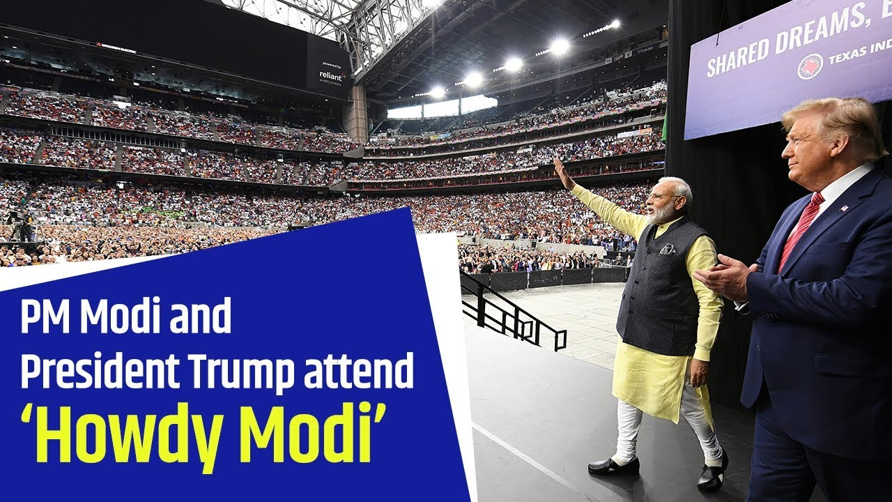 PM Modi and President Trump attend 'Howdy Modi' - Indian community event in Houston, USA | PMO - YouTube