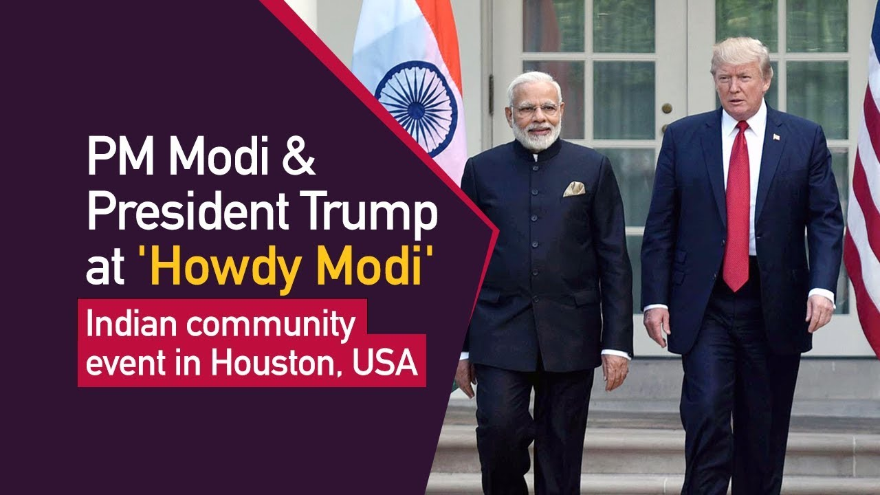 PM Modi and President Trump attend 'Howdy Modi' - Indian community event in Houston, USA |