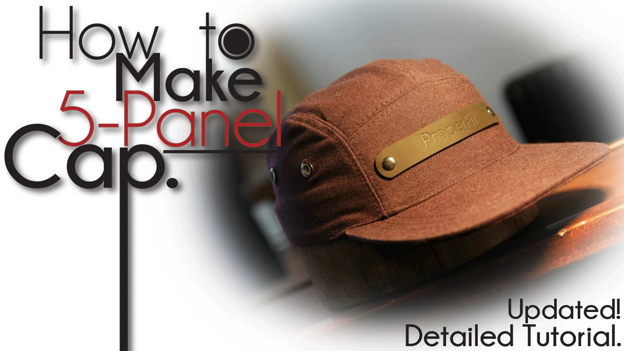 1d5bd2fd8326f How To Make 5-Panel Camp Hat - YouTube
