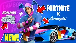 NEW! FORTNITE X LAMBORGHINI LIVE! + NEW! GET 500K V-BUCKS & EXCLUSIVE K-POP SKIN FREE! (LIVE!)