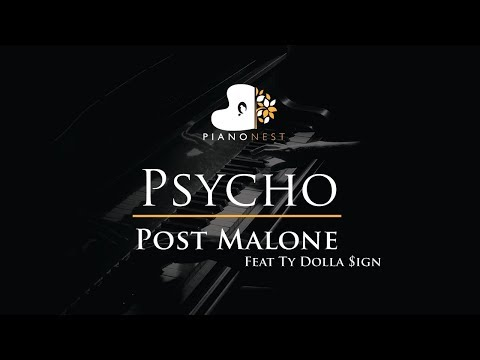Post Malone Feat Ty Dolla Sign - Psycho - Piano Karaoke / Si