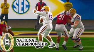 CRAZIEST NATIONAL CHAMPIONSHIP GAME EVER!!! NCAA 14 ROAD TO GLORY EP  10