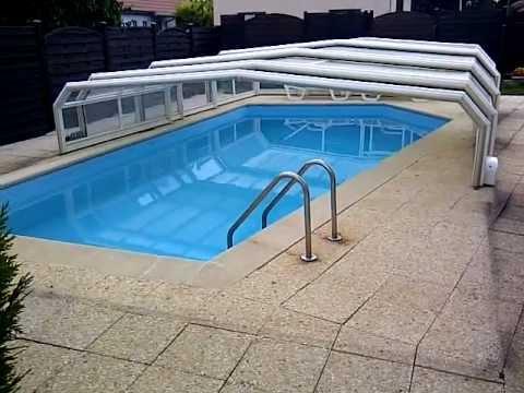 motorisation abri piscine youtube. Black Bedroom Furniture Sets. Home Design Ideas