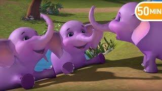 Ek Mota Hathi - एक मोटा हाथी - Hindi Rhymes | hindi baby songs from Jugnu kids