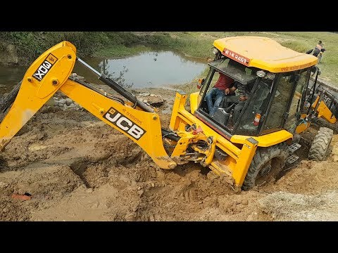 JCB Working For Road Construction - JCB Dozer Collecting Stone