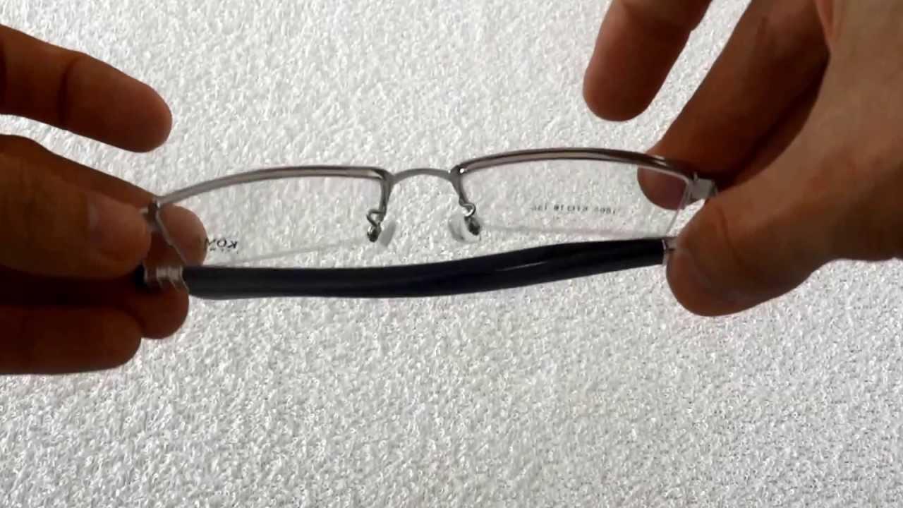 965da78d9cf4e Armação para Óculos De Grau em Meio Aro com Fio Nylon - YouTube
