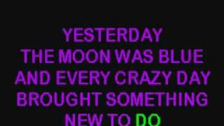 Yesterday When I Was Young Karaoke.mp4.wmv
