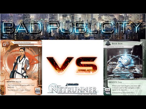 Let's Play Netrunner - Decklist of the Week d1en's Val's Pals vs Blue Sun