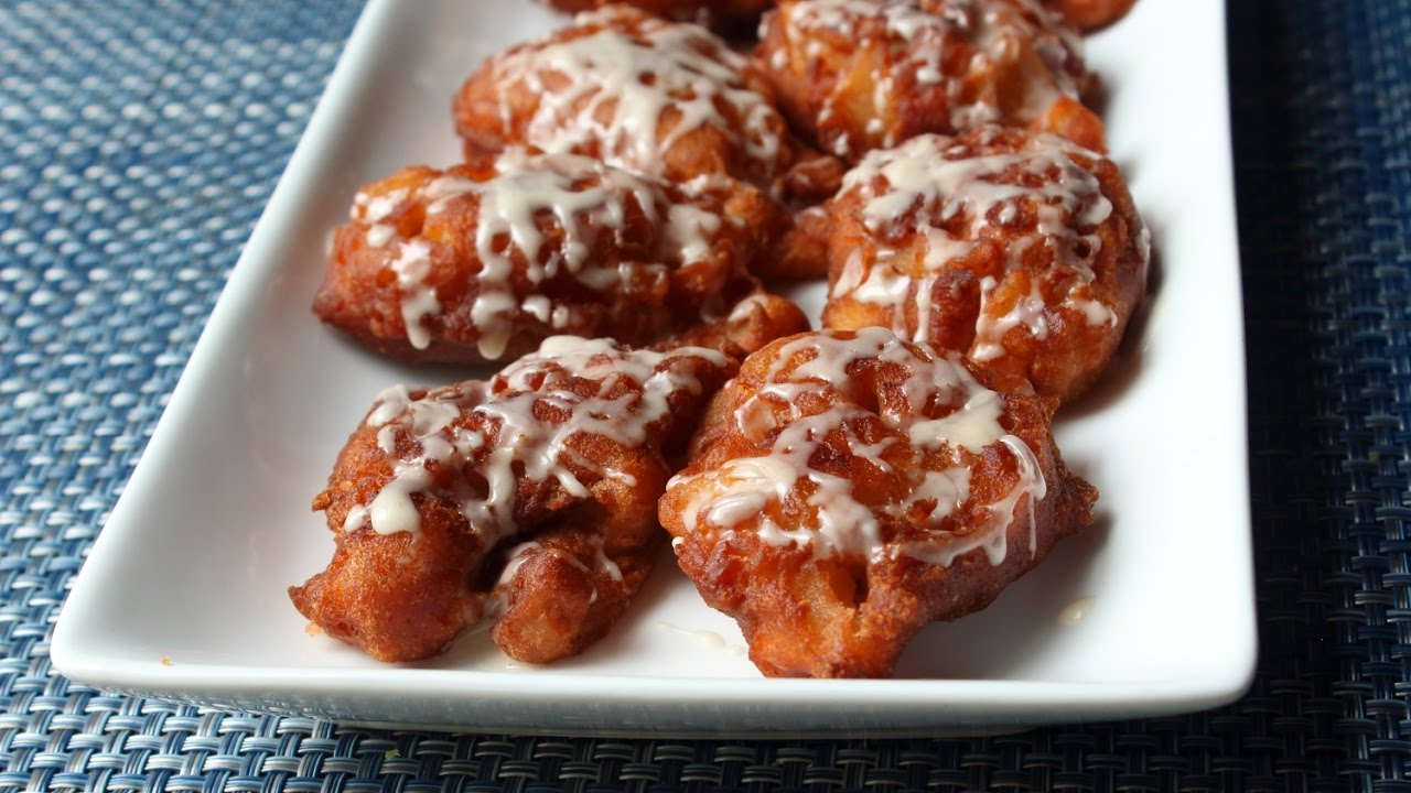 Apple Fritters Recipe How To Make Apple Fritters Youtube