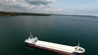 Flight over Cargo ship holding outside Youghal harbour || Drone footage || DJI Phantom 4